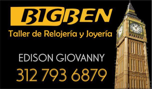BIG BEN, Taller de Relojería y Joyería en La Dorada