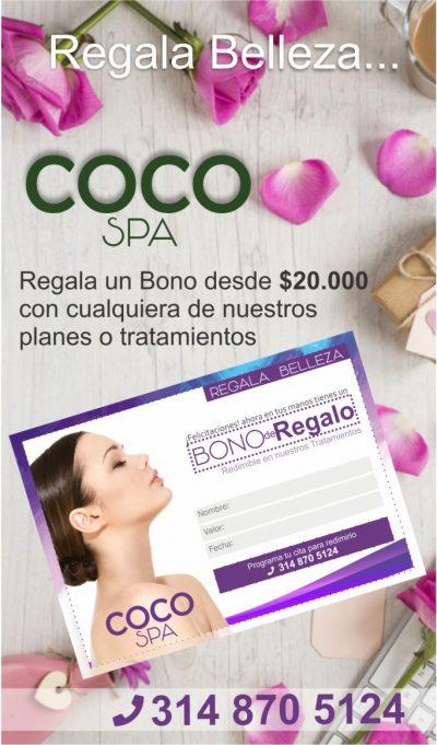 COCO Spa La Dorada. Bono de regalo
