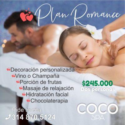 COCO Spa La Dorada. Plan romance- Spa para parejas