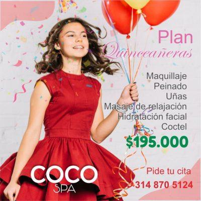COCO Spa La Dorada. Plan Quinceañeras