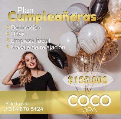 COCO Spa La Dorada. Plan cumpleañeras
