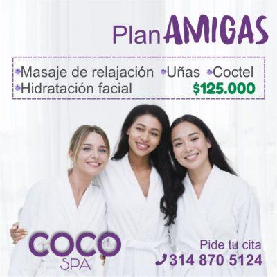 COCO Spa La Dorada. Plan AMIGAS