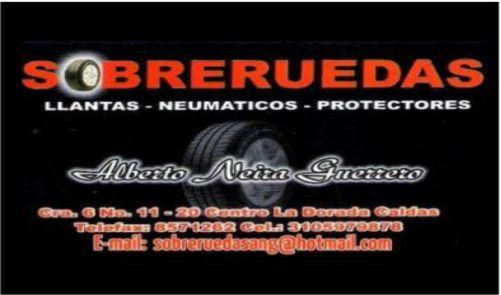 SOBRERUEDAS, Llantas, neumáticos, protectores y rines.