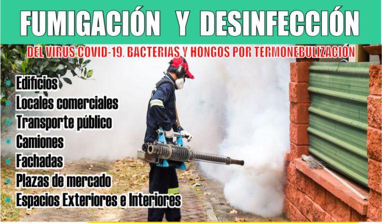 Desinfección y Fumigación del Virus Covid-19